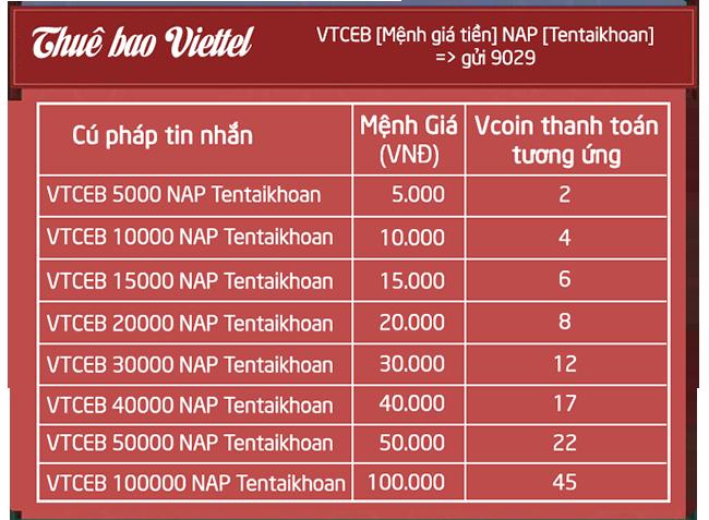 Với việc nạp Vcoin qua đầu số 9029, số Vcoin được nhận trong tài khoản là  100% Vcoin thanh toán - Khoảng cách thời gian kết thúc tin nhắn trước và  thời ...
